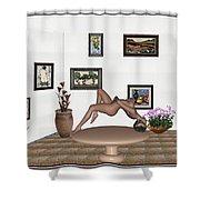 Digital Exhibition _ Girl 50 Shower Curtain