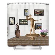 Digital Exhibition _ Guard Of The Exhibition 3 Shower Curtain