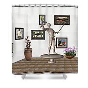 Digital Exhibition _ Guard Of The Exhibition2 Shower Curtain
