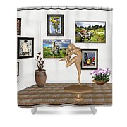 Digital Exhibition _ Statue Of  Erotic Acrobatics  2 Shower Curtain