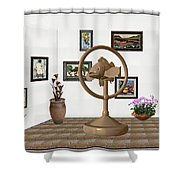 digital exhibition _ Statue of fish 1 Shower Curtain