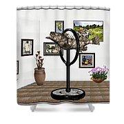 digital exhibition _ Statue  of fish  12 Shower Curtain
