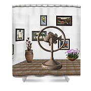 digital exhibition _ Statue of fish 4 Shower Curtain