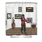 Digital Exhibition 21 Shower Curtain