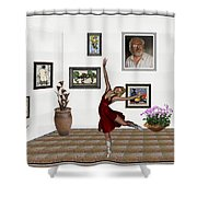 Digital Exhibition _dancing Girl 221 Shower Curtain