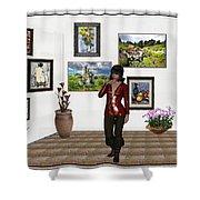 Digital Exhibition _posing Girl 221 Shower Curtain