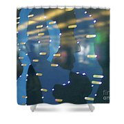 Digital Faces Shower Curtain