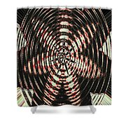 Digital Fan Abstract Shower Curtain