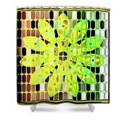 Digital Floral Shower Curtain