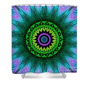 Digital Kaleidoscope Mandala 50 Shower Curtain