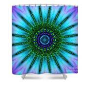 Digital Kaleidoscope Mandala 51 Shower Curtain