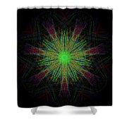 Digital Leaf Shower Curtain