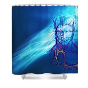 Digital Liquid Shower Curtain