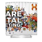 Digital Marketing Shower Curtain