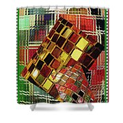 Digital Mosaic Shower Curtain
