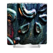 Digital Painting Abstract Blue 2364 Dp_2 Shower Curtain