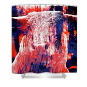 Digital Painting Of A Bull Shower Curtain