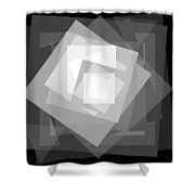 Digital Rose. Black And White Shower Curtain