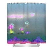 Digital Sunrise Shower Curtain