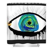 Digital Tears Shower Curtain