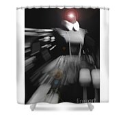 Digital Visualization Of A Female Mystic Shower Curtain