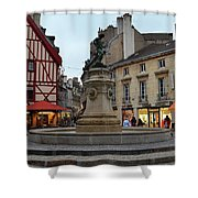 Dijon Fountain Shower Curtain