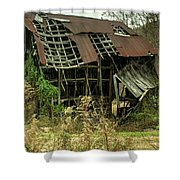 Dilapidated Barn Morgan County Kentucky Shower Curtain
