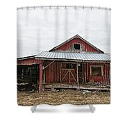 Dilapidated Old Barn Shower Curtain
