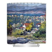Dilesi Village Athens Shower Curtain