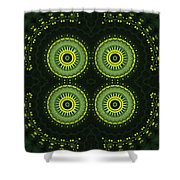 Dill Weed Flower Wheels Shower Curtain