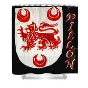 Dillon Family Shield Shower Curtain