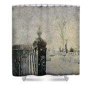 Dim Gothic Blur Shower Curtain