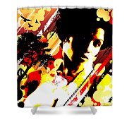 Dim Sunrise Shower Curtain