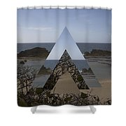Dimensional Rift. Shower Curtain