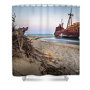 Dimitrios Shipwreck Shower Curtain