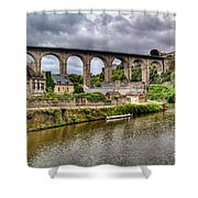 Dinan Port Brittany France Shower Curtain