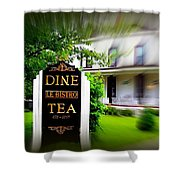 Dine Le Bistro Tea Shower Curtain