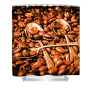 Diner Beans Shower Curtain