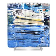 Dinghies At High Tide Shower Curtain