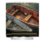 Dinghies At Rockport Shower Curtain