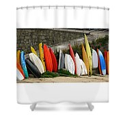 Dinghy Conga Line Shower Curtain