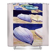 Dinghy Lines Shower Curtain