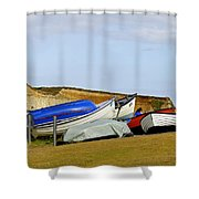 Dinghy Park At Freshwater Bay Shower Curtain