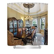 Dining Shower Curtain by Jody Lane
