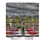 Dining With A View Shower Curtain