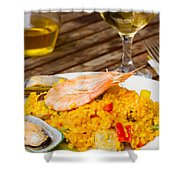 Dining With Paella Shower Curtain