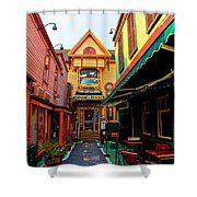 Dinks Alley Shower Curtain