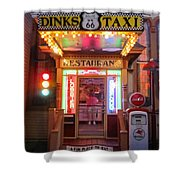 Dinks Taxi 1 Shower Curtain