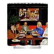 Dinner At Th Algonquin Hotel Shower Curtain
