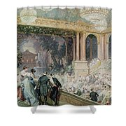 Dinner At The Tuileries Shower Curtain by Henri Baron